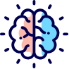 Colorful icon brain
